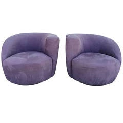 Pair of Vladimir Kagan Swivel Chairs