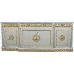 Buffet with Neoclassical Greek Key Motif