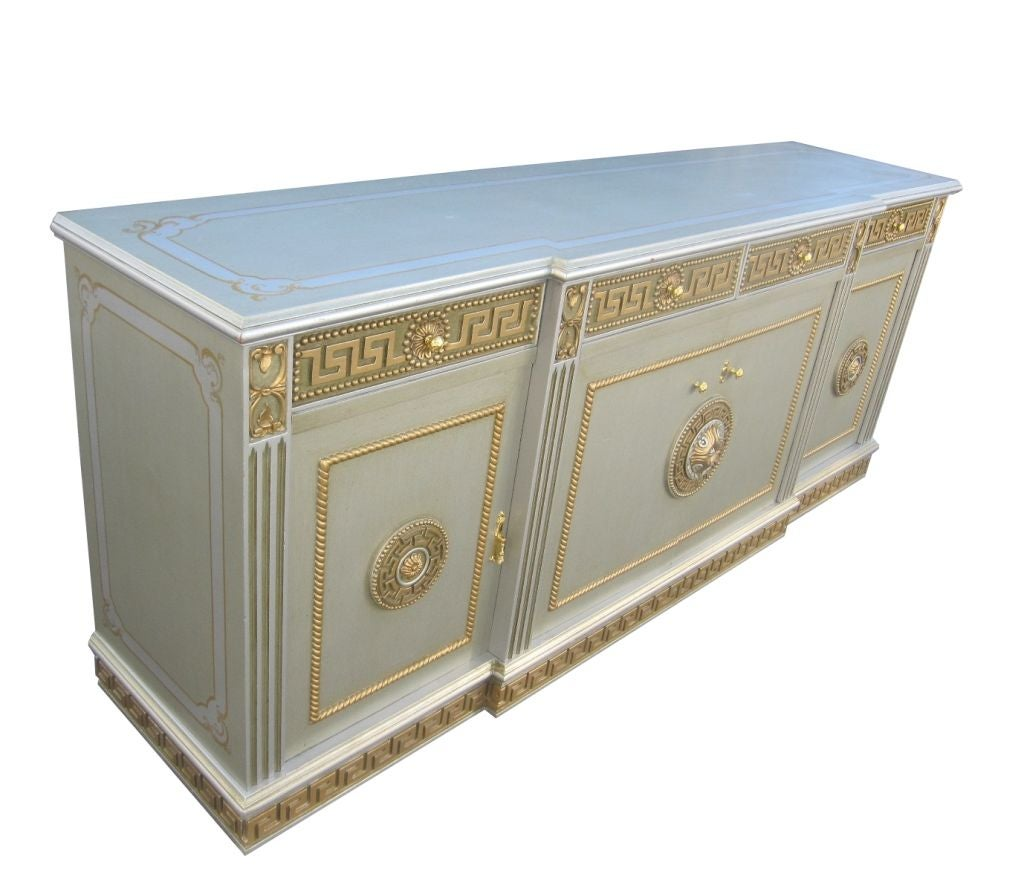 Buffet With Neoclassical Greek Key Motif 3