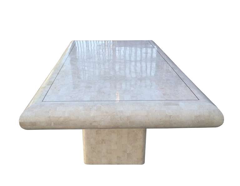 Modern Maitland-Smith Tessellated Dining Table For Sale