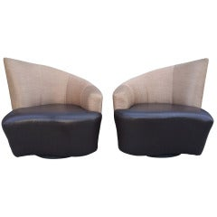 "Vladimir Kagan ""Bilbao"" Swivel Chairs"