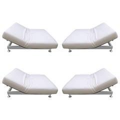 Vintage ligne roset flou flou sofa at 1stdibs for Bella flora double chaise lounge