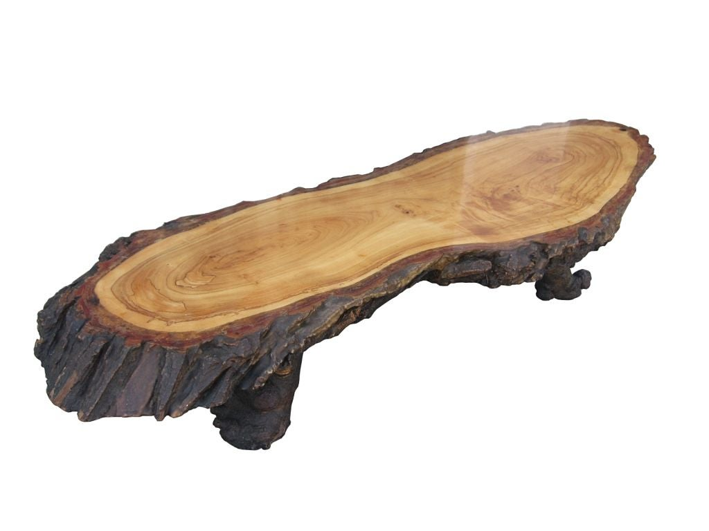 One Of A Kind Driftwood Coffee Table At 1stdibs