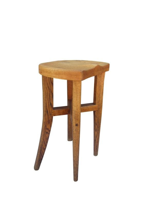 Five Victor DiNovi Oak Sculptural Stools, USA, 1970s In Excellent Condition For Sale In Los Angeles, CA