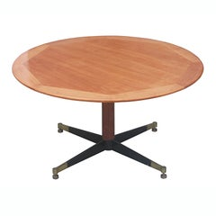 Jacques Adnet Leather Clad Cocktail Table