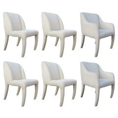Vladimir Kagan for Directional Set of Six Dining Chairs