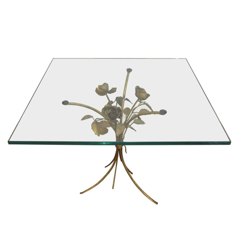Vintage italian sheaf of roses tole side table at 1stdibs for Retro italian xxx