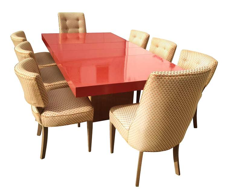 Stunning Dining Table With 8 Chairs By Paul Laszlo At 1stdibs