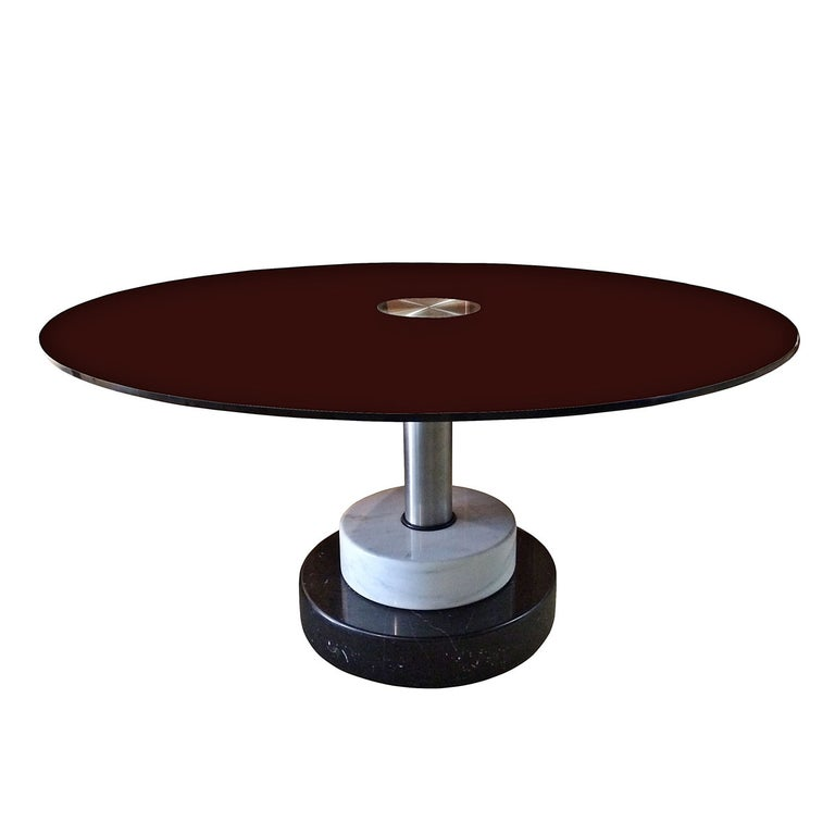 """Lodovico Acerbis and Giotto Stoppino """"I Menhir"""" Marble and Glass Dining Table For Sale"""