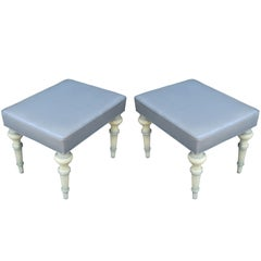 Spencer & Company Regency Ottomans or Stools, circa 1960s