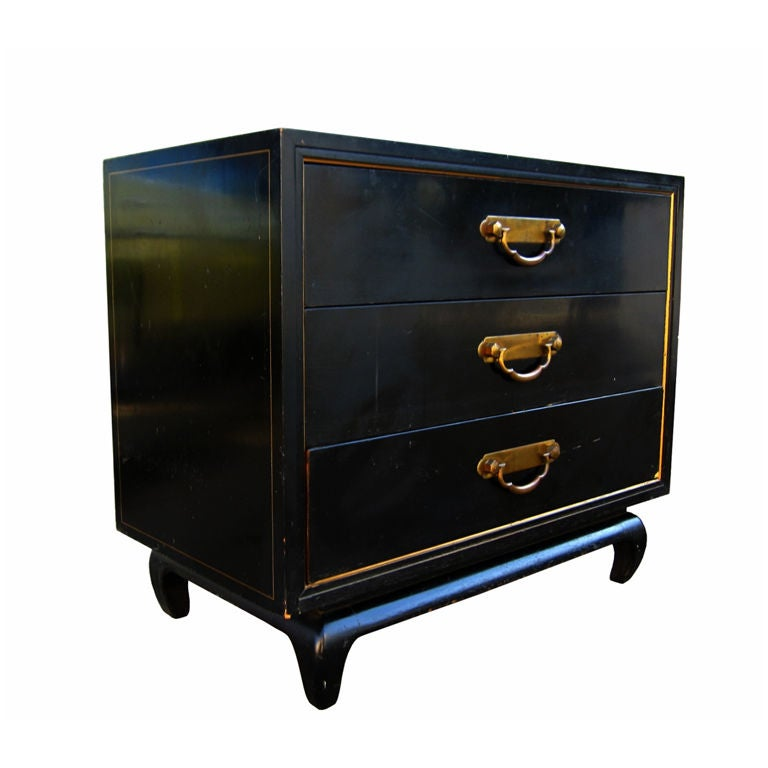 Asian Style American Of Martinsville Commode With Br