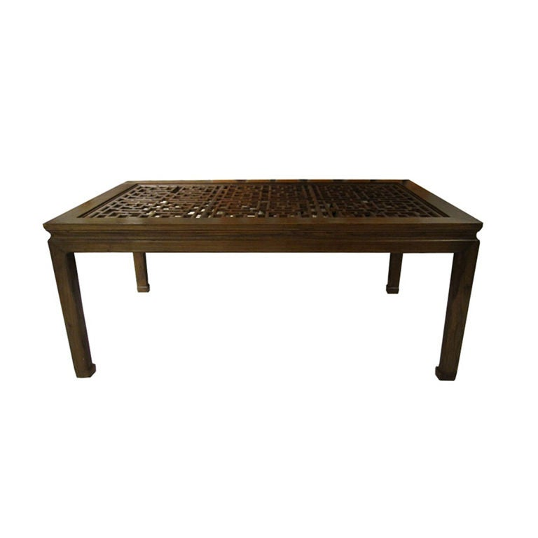 Vintage Asian Style Dining Table with Carved Top For Sale  : XXX8817128579424 from www.1stdibs.com size 768 x 768 jpeg 22kB