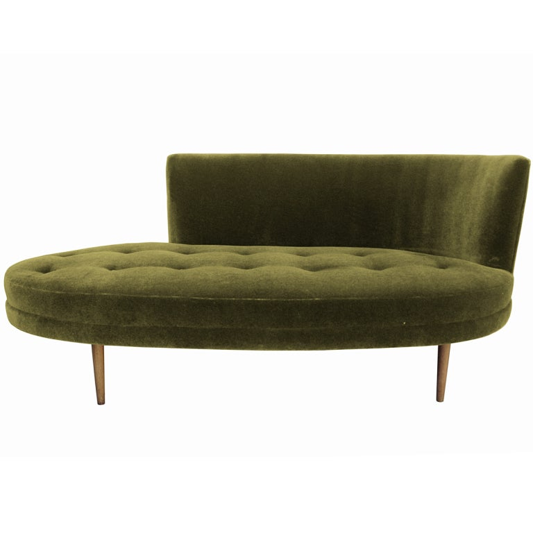Stunning chaise with tufted seat at 1stdibs for Chaises longues tressees