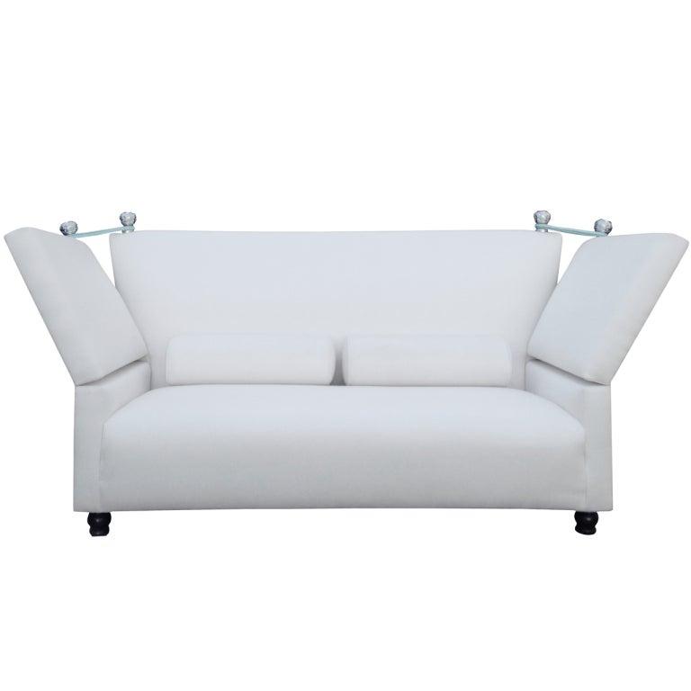 Xxx img for White linen sectional sofa