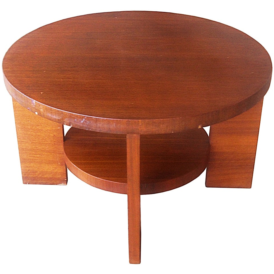 Art Deco Two-Tiered Occasional Table