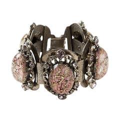 Vintage Crystal Embellished Bracelet