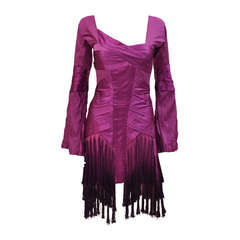 2004 Tom Ford for Gucci tassel dress