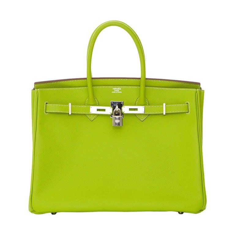 Hermès Candy Kiwi 35cm Birkin Bag 1