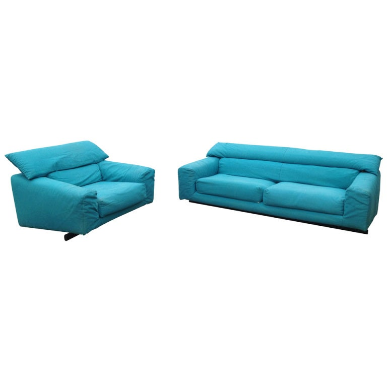 Vintage Arketipo Sofa and Lounge Chair 1