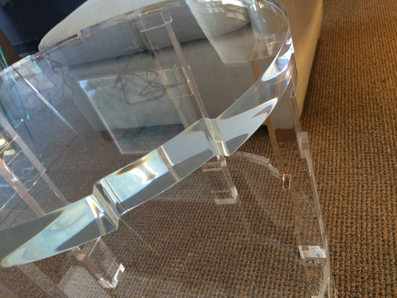 Contemporary Pair of Occasional Lucite Tables by Charles Hollis Jones for Cain Modern For Sale