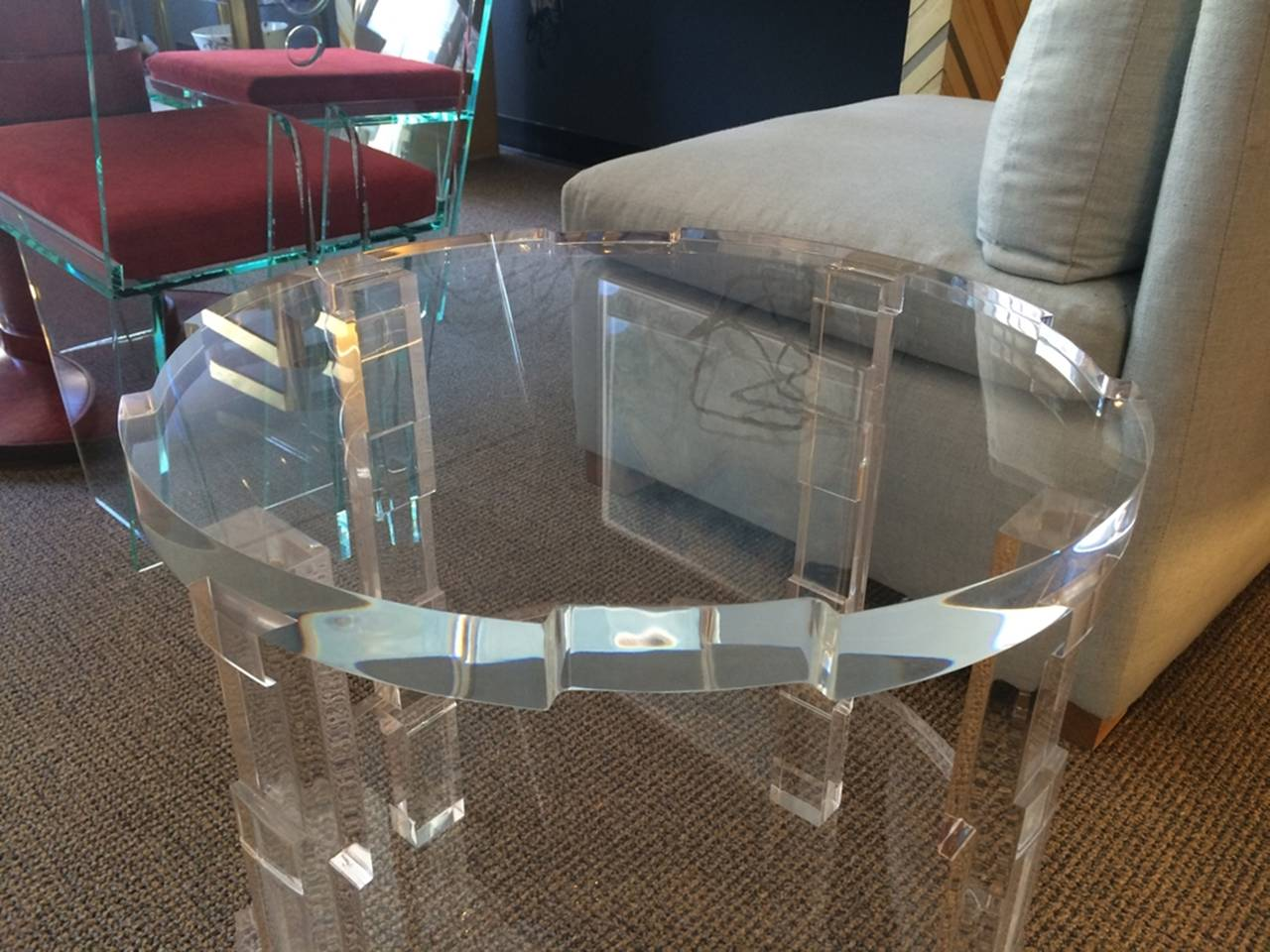 Pair of Occasional Lucite Tables by Charles Hollis Jones for Cain Modern For Sale 1