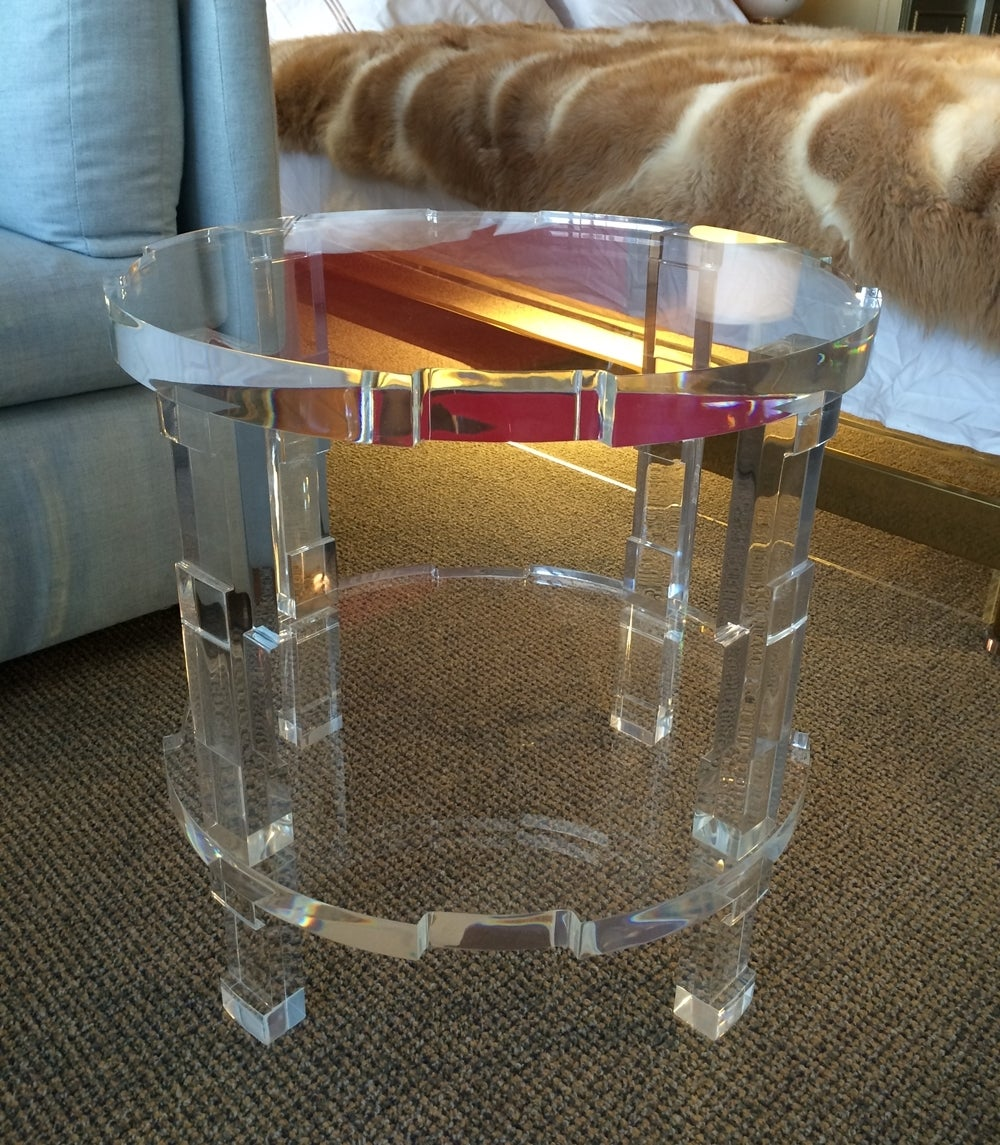 American Pair of Occasional Lucite Tables by Charles Hollis Jones for Cain Modern For Sale