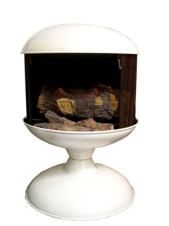 Vintage Freestanding Indoor Outdoor Metal Fireplace At 1stdibs