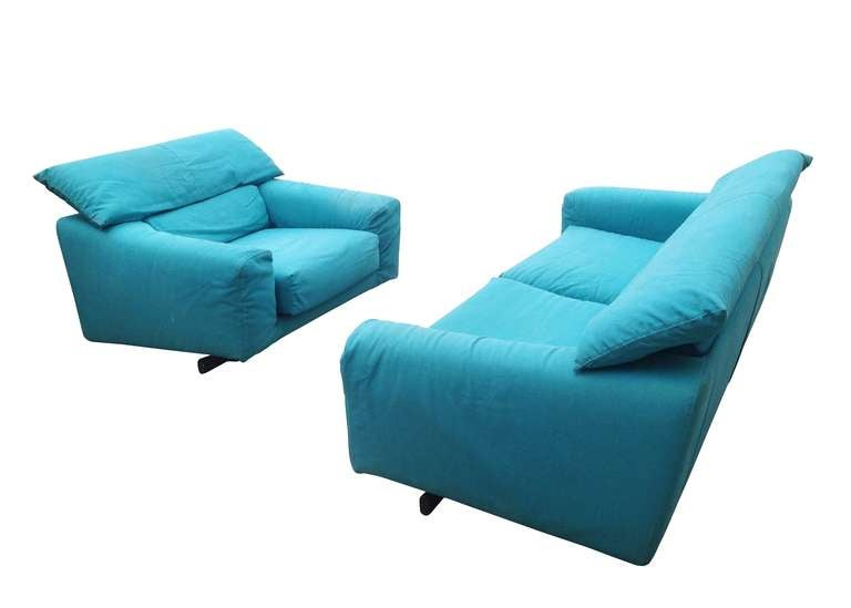 Vintage Arketipo Sofa and Lounge Chair 2