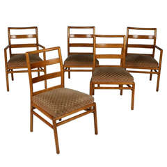 Set of Five Dining Chairs by Robsjohn-Gibbings for Widdicomb