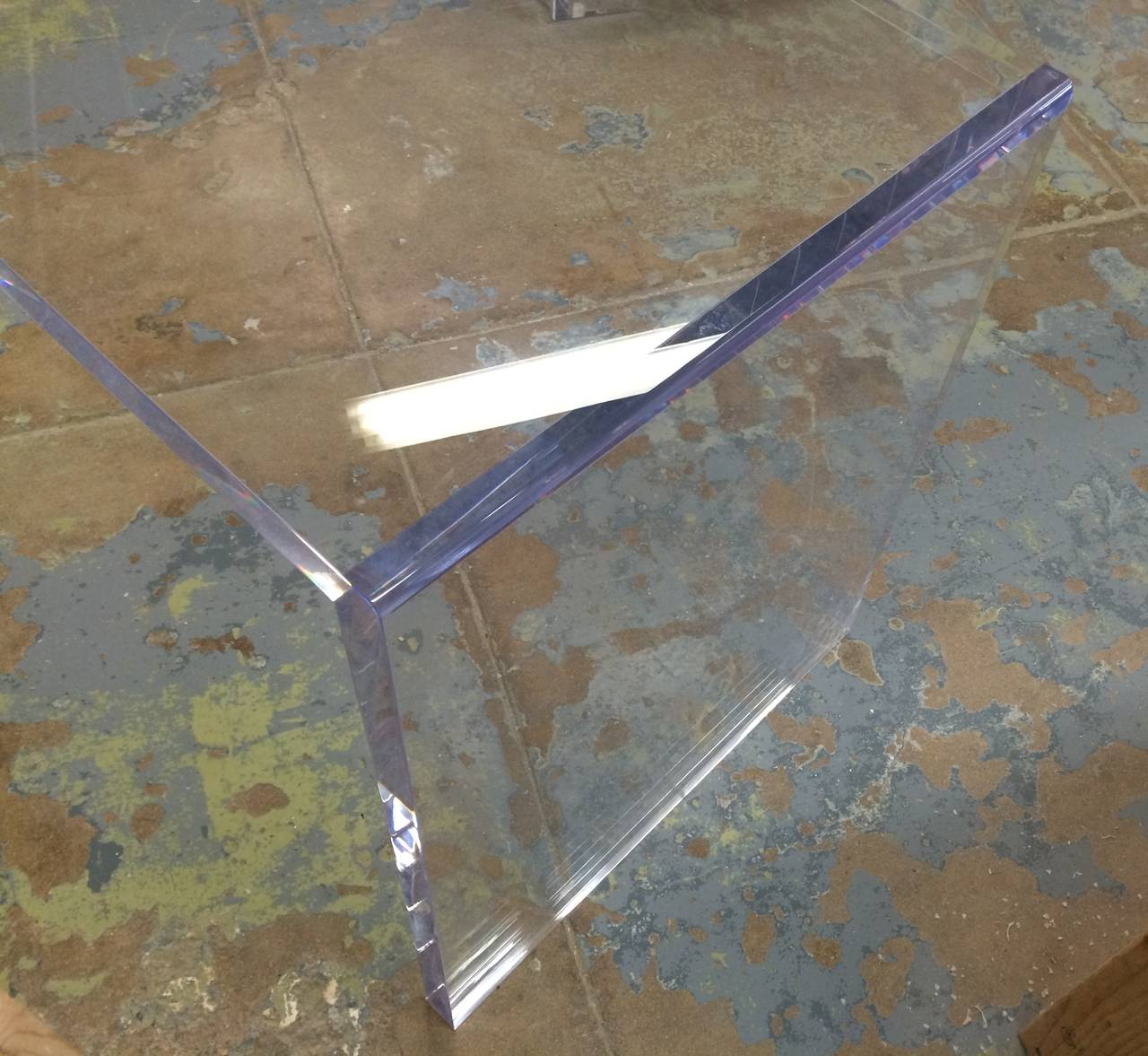 American Beautiful Lucite Console Table by Cain Modern For Sale