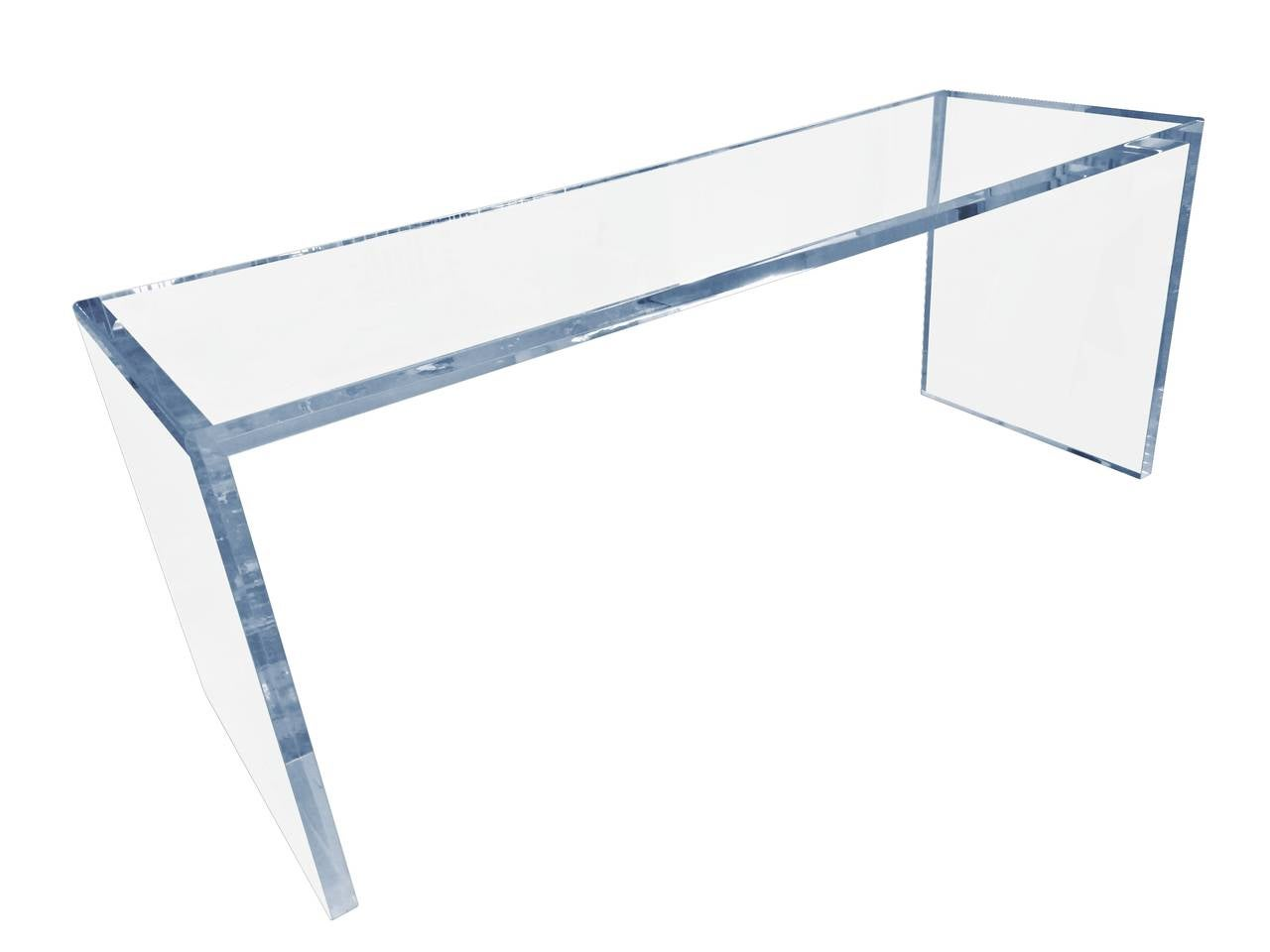 Stunning and beautiful console table designed and manufactured by the Cain Modern Studio. The table has wonderful lines, the table is 1 1/2
