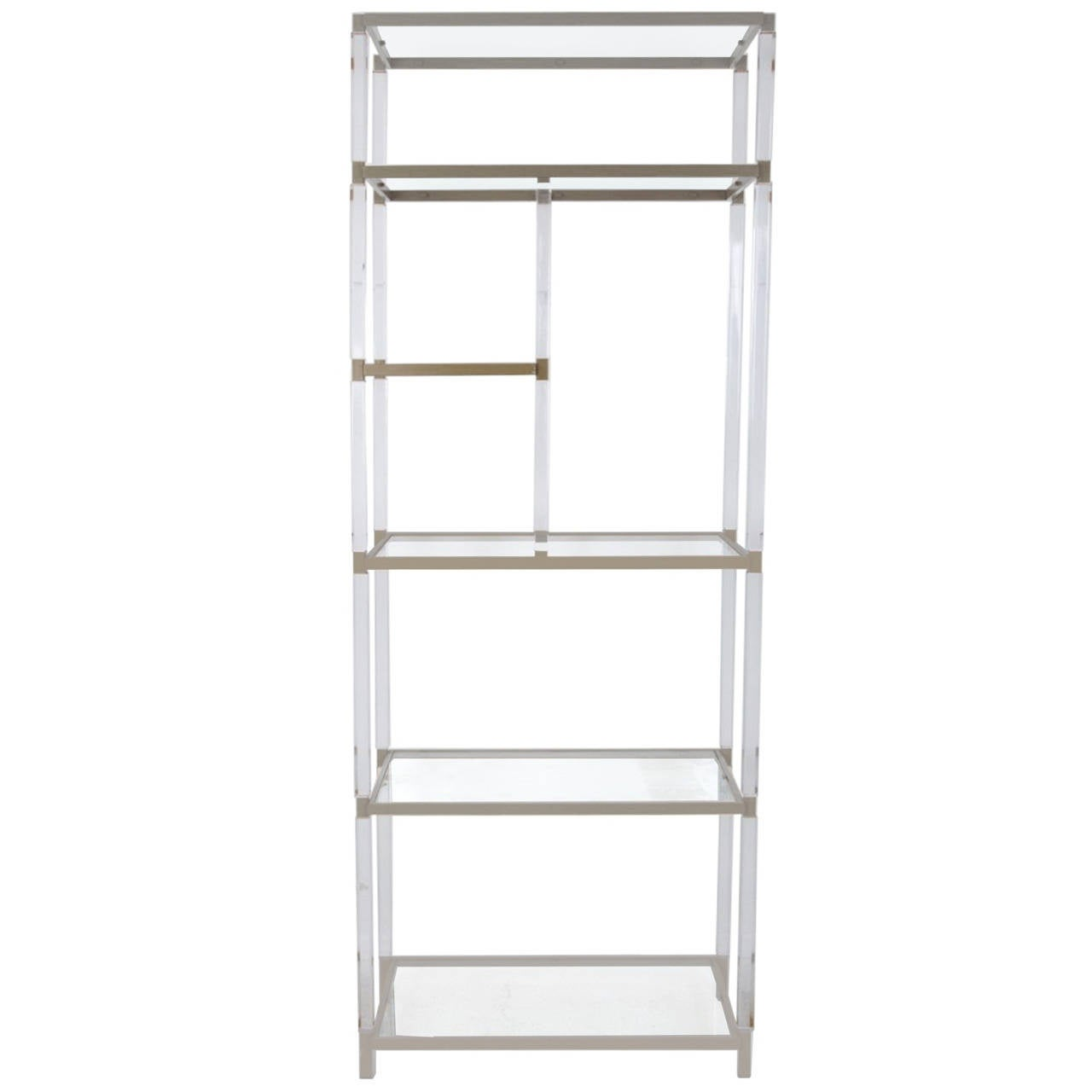 Lucite and Nickel Etagere by Charles Hollis Jones from the Metric Collection