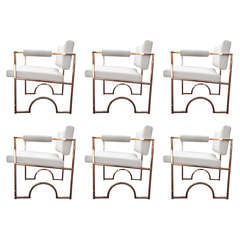 "Set of Six ""Oakland Raiders"" Armchairs by Charles Hollis Jones"