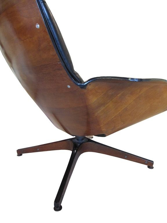 George Mulhauser Plycraft 1950s Lounge Chair And Ottoman