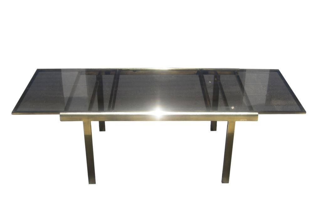 Dining Table In Brass And Smoked Glass This Beautiful Table
