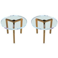 Brass Side Tables by Charles Hollis Jones for Arthur Elrod