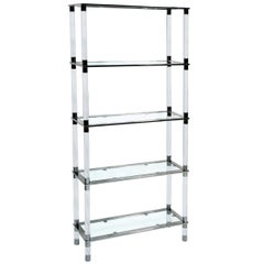 Lucite & Stainless Steel Etagere By Amparo Calderon Tapia