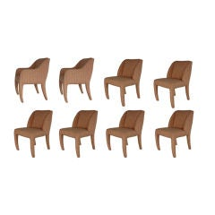 Vladimir Kagan for Directional, Set of Eight Dining Chairs