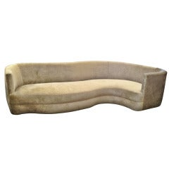 Stunning Free-Form Sofa, Newly Upholstered