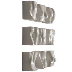 "Tanya Ragir ""Brickwork"" 2009. Table or wall sculpture in cast stone."