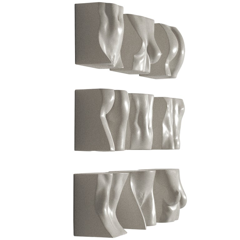 """Tanya Ragir """"Brickwork"""" 2009. Table or wall sculpture in cast stone.   For Sale"""