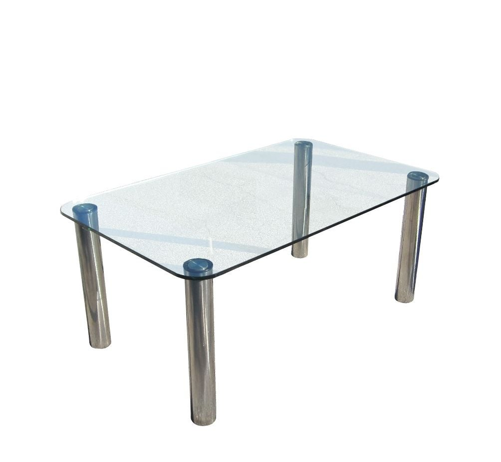 marco zanuso for zanotta dining table stainless steel and
