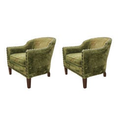 Pair of Hollywood Regency Armchairs by Knapp & Tubbs for Baker