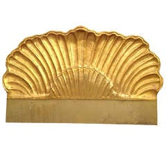 Gold Leaf Shell Shaped King Size Headboard Attb to Grosfeld House