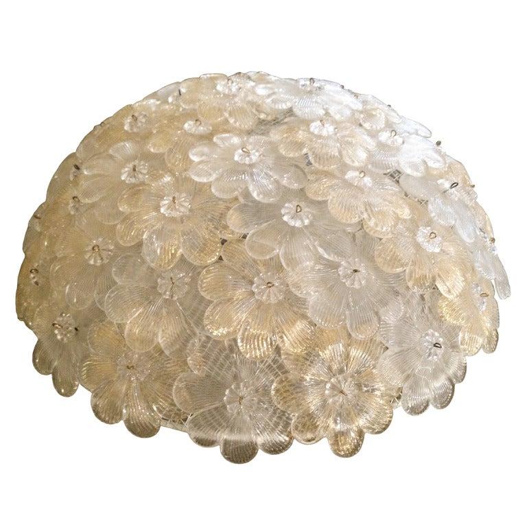 Murano Glass Pendant by Barovier e Toso