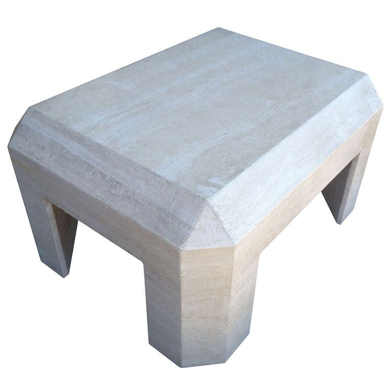Travertine Slab Coffee Table: Beautiful Travertine Coffee Table At 1stdibs