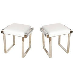 Pair of Charles Hollis Jones Benches, Signed