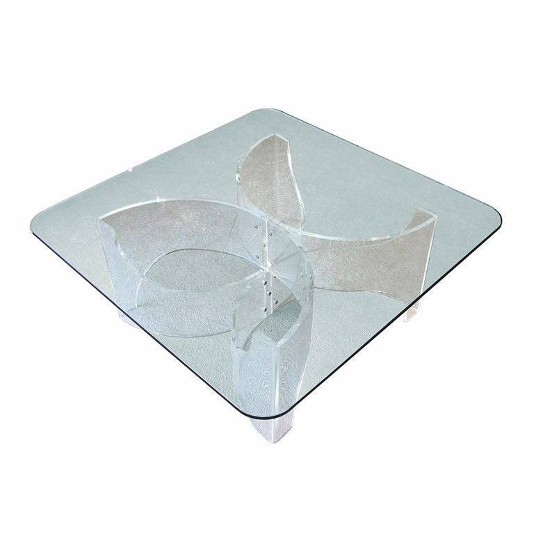 Vintage Lucite Coffee Table Base At 1stdibs