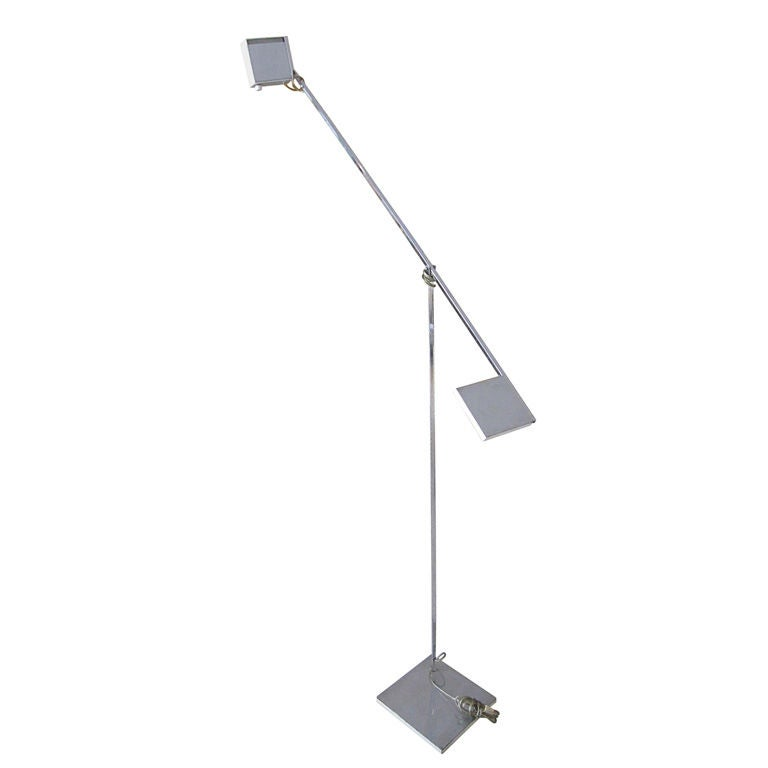 1950's Italian Articulated Floor Lamp In the Style of Angelo Brotto
