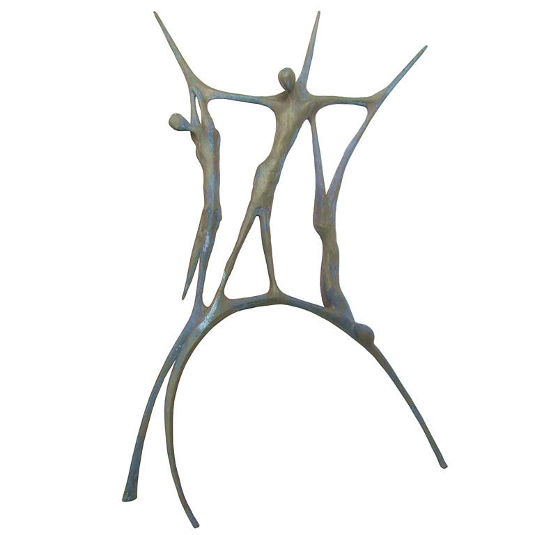 """Carmelo Capello """"Cristo e i Ladroni"""" Bronze Sculpture, Signed"""